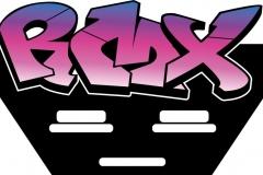 Boxenschild-Sonderform-Plexiglas